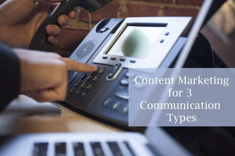 3 Communication Types