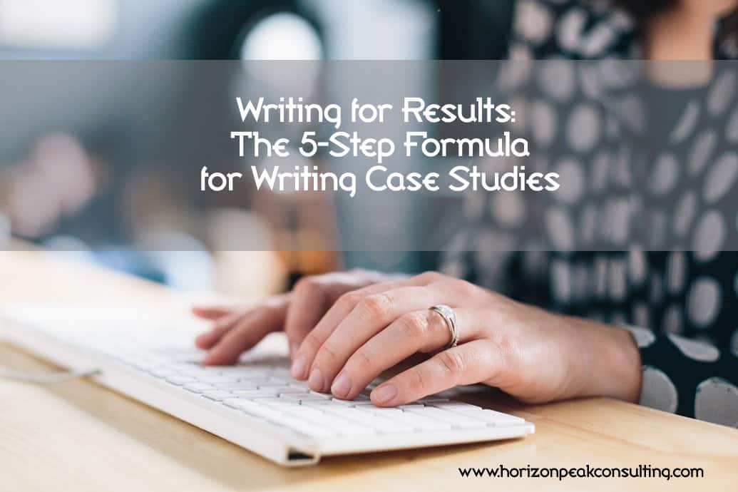 steps in writing a case study