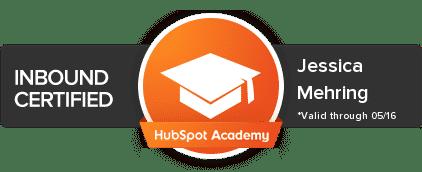 HubSpot Certified award