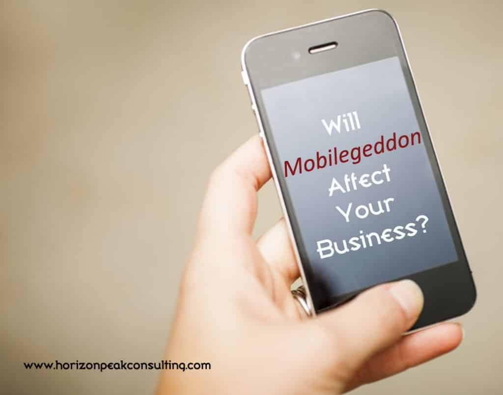 Smartphone - Will Mobilegeddon affect your business?