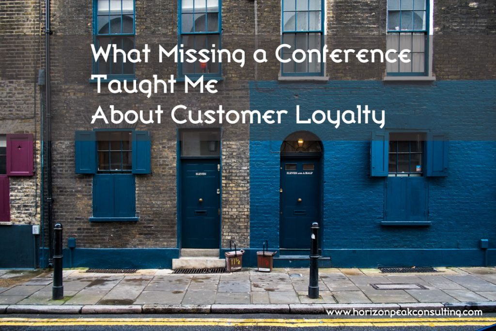 Urban building -- What missing a conference taught me about customer loyalty