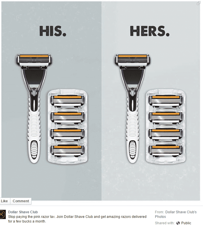 Dollar Shave Club his/hers razors