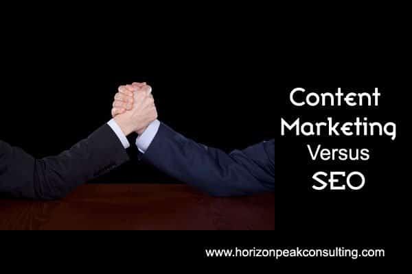 Arm wrestling -- Content marketing versus SEO
