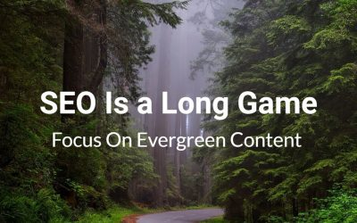 Seo is a long game. focus on evergreen content