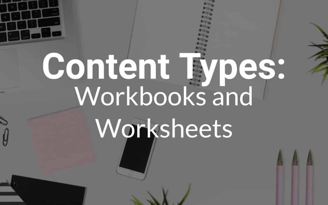 Content Types: Workbooks and Worksheets