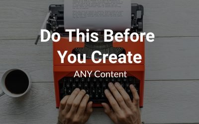 Do this before to write content