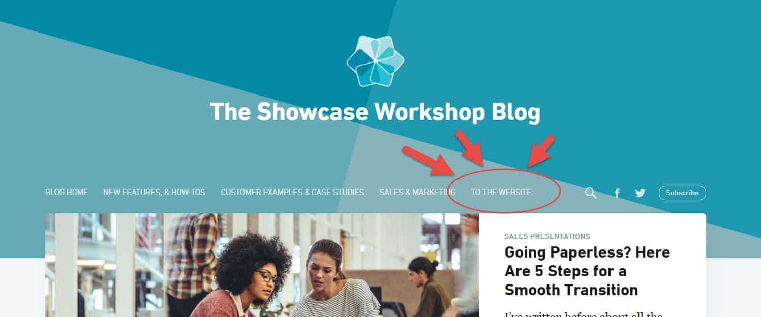 Showcase Workshop blog website link