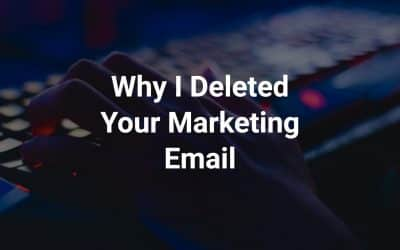 Why I Deleted Your Marketing Email - fingers on keyboard